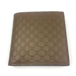 Gucci #150413 Micro-GG Leather Bi-fold Wallet
